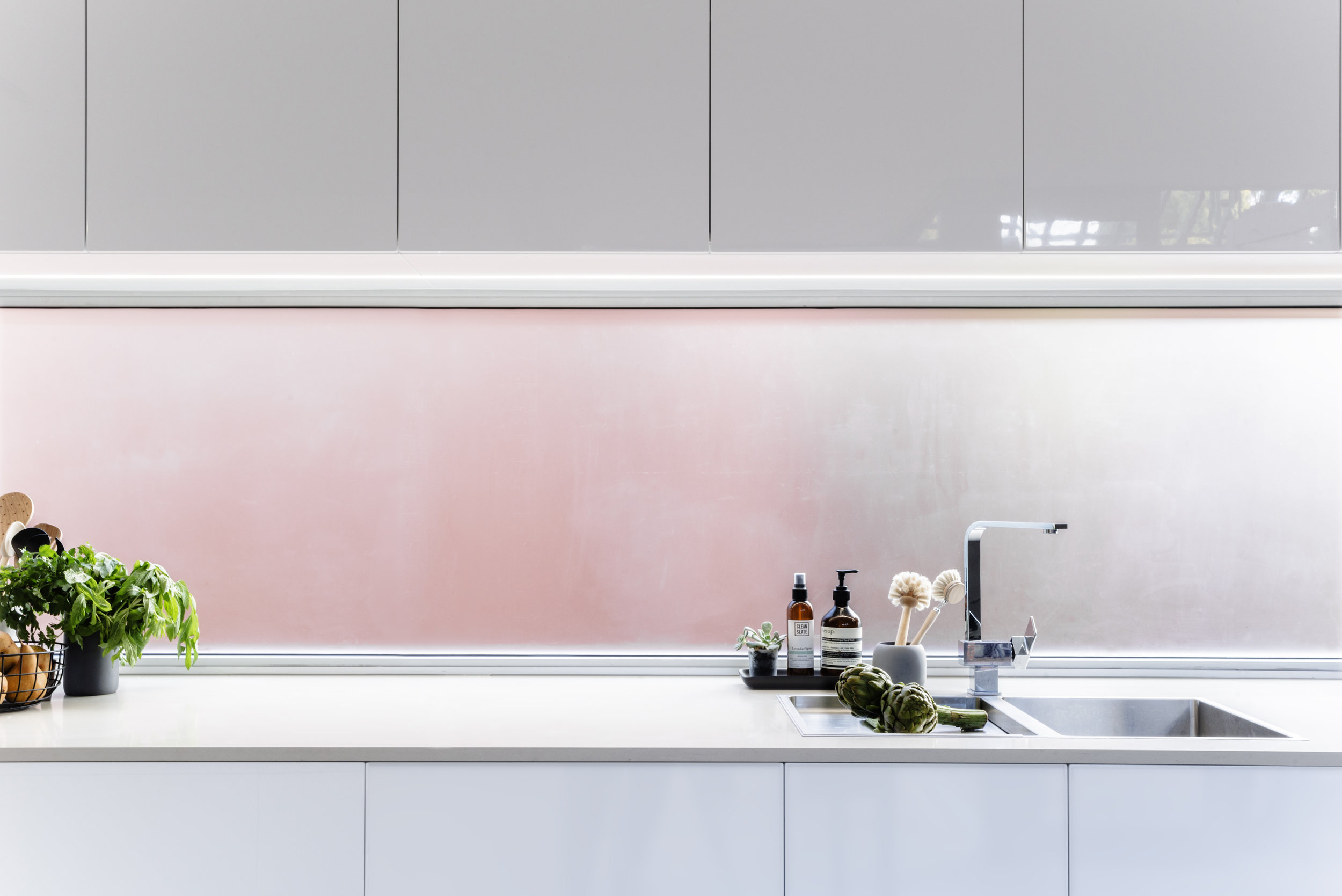 kitchen window splashback photograph