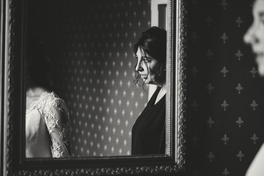 Emotion pendant un mariage