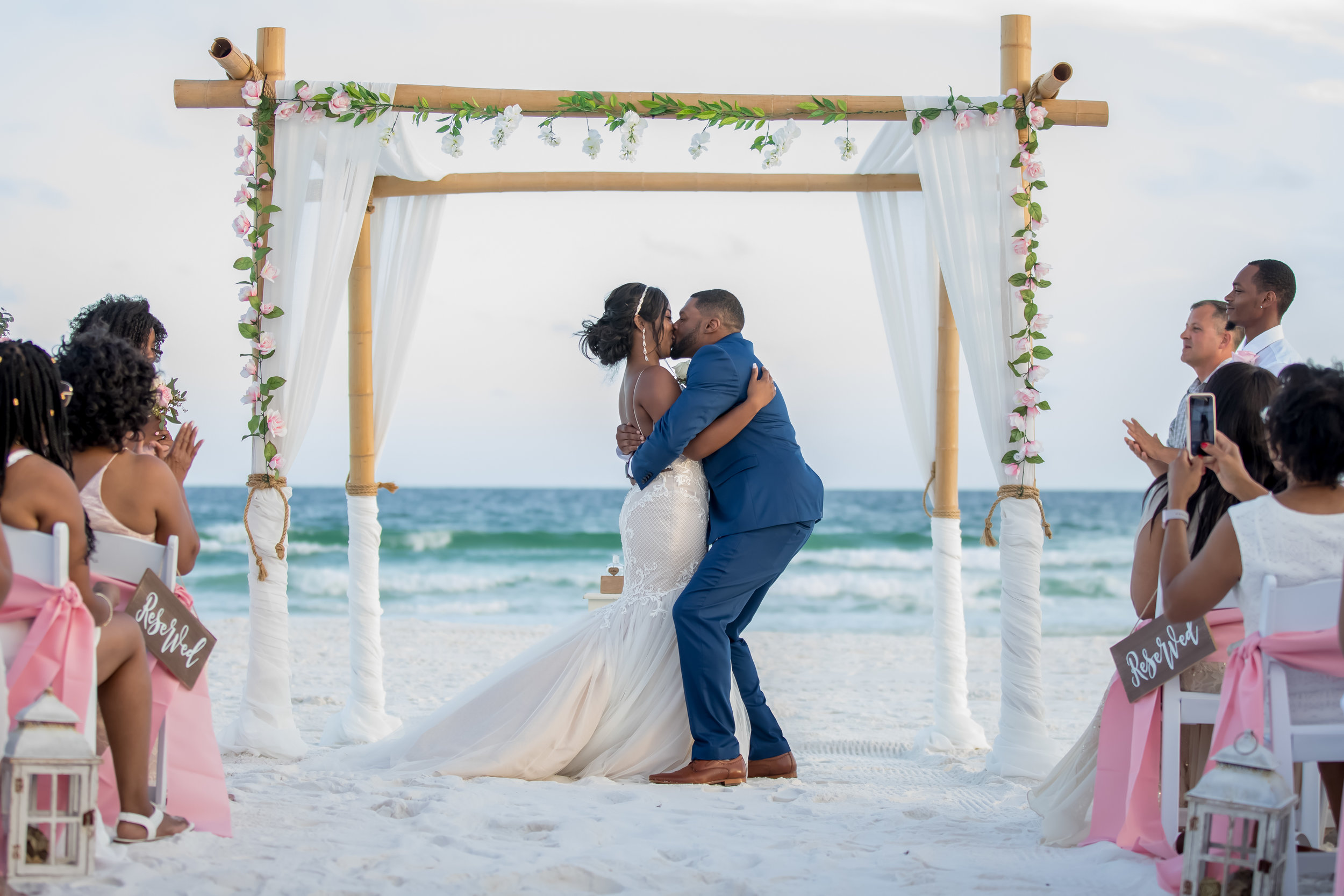 We provide a full range of Florida Beach Wedding Services and have elegant beach wedding packages for nearly any budget. We offer competitive rates and a full list of additional services.