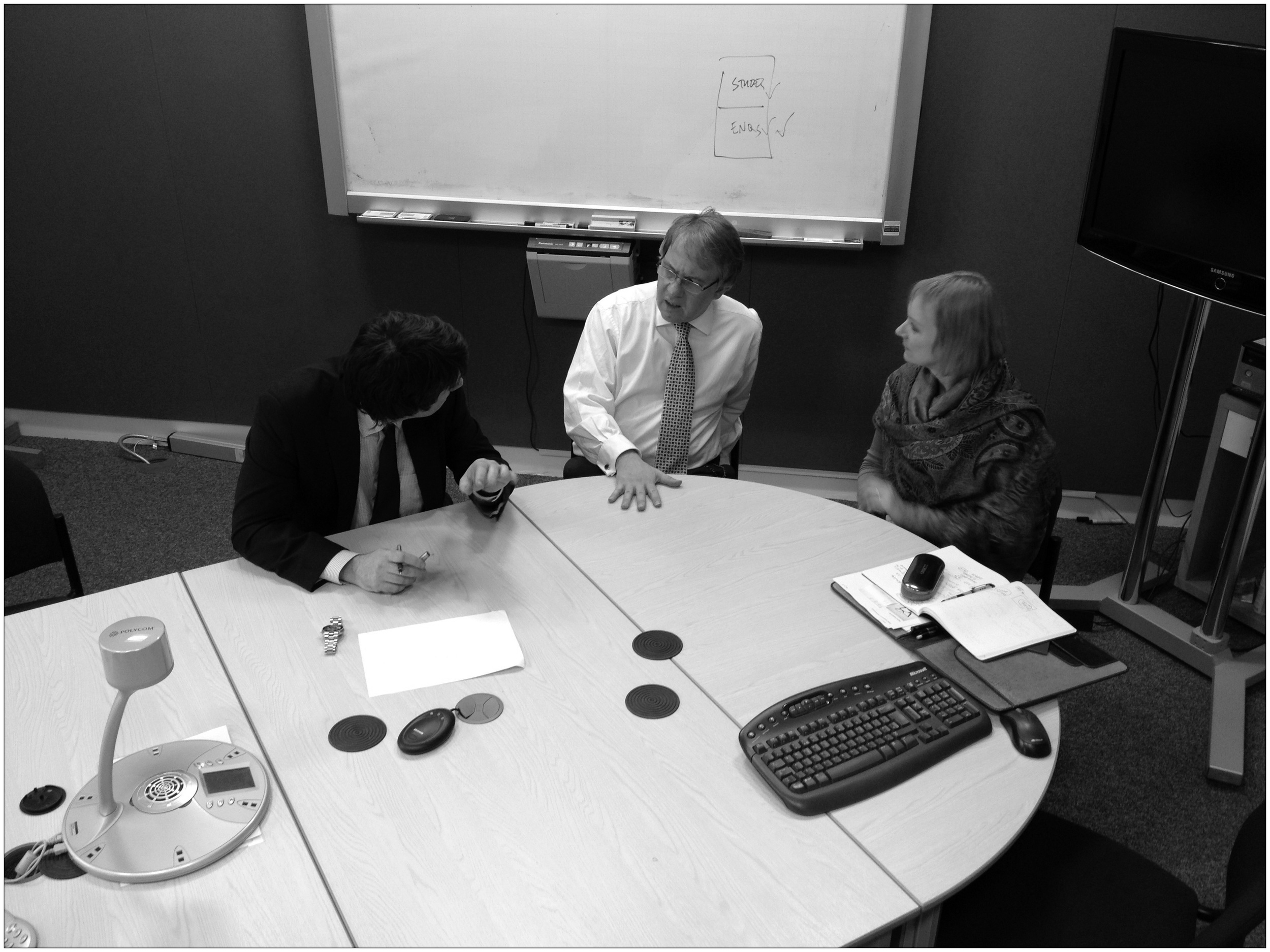 """Photo credit: The Open University, """" Ian Roddis, Lucian Hudson and Ginny Broad ,"""" Flickr,  CC BY-NC-ND 2.0 license ."""