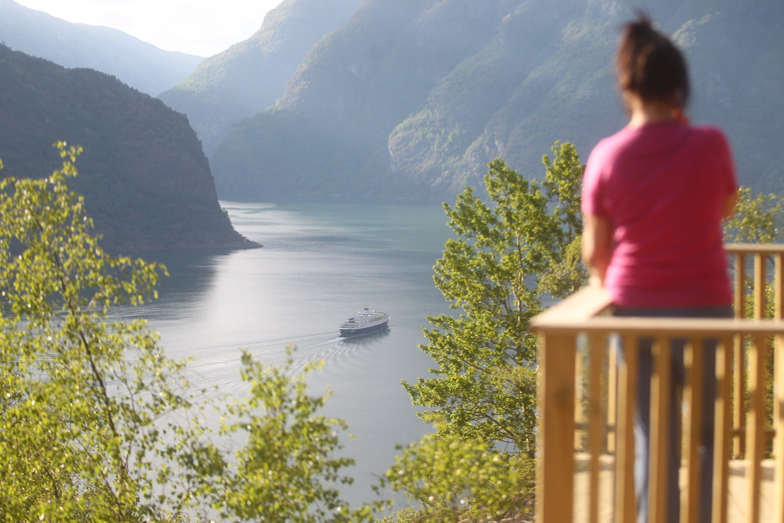 Vinjaåsen i Aurland, utsikt over Aurlandsfjorden. Foto: Stig Roger Eide