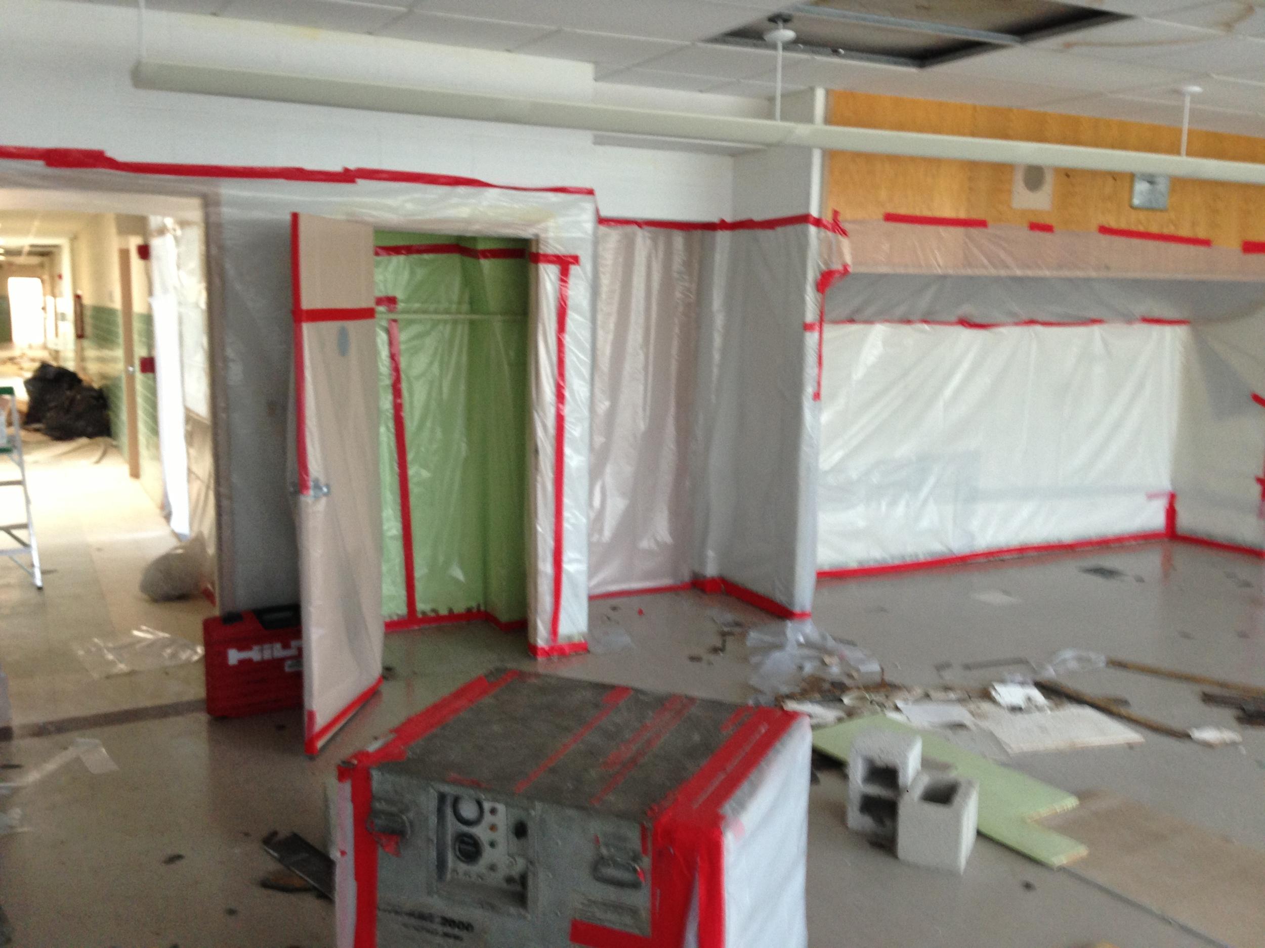 Demolition on the interior