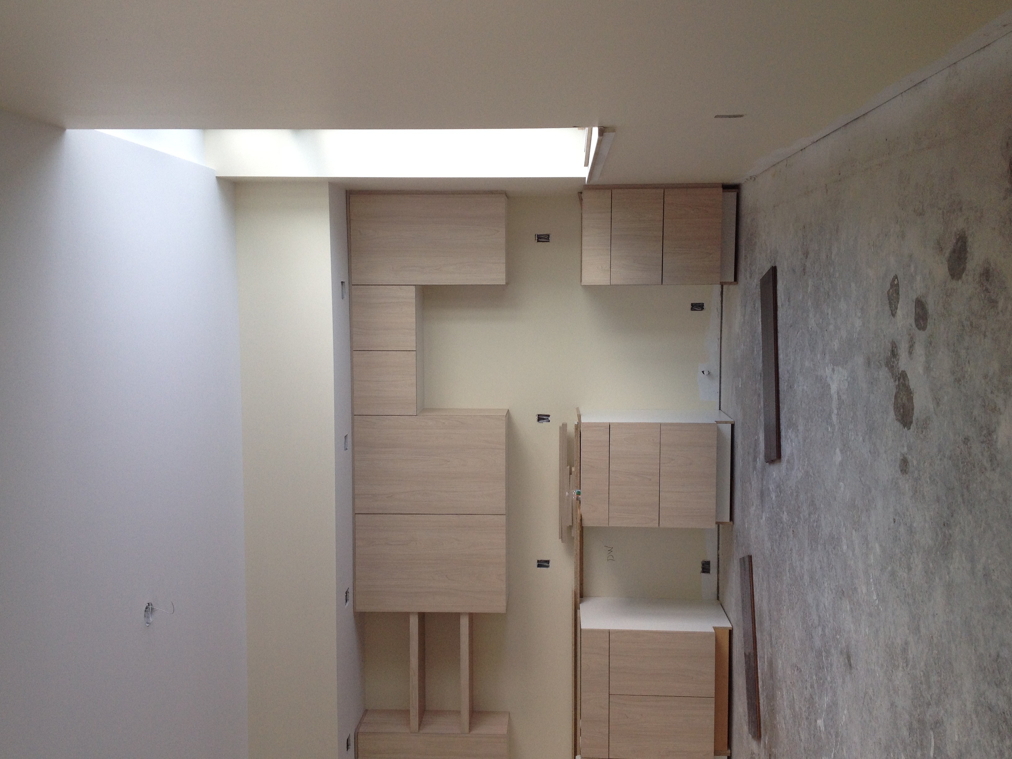 Kitchen cabinets in Unit 102.