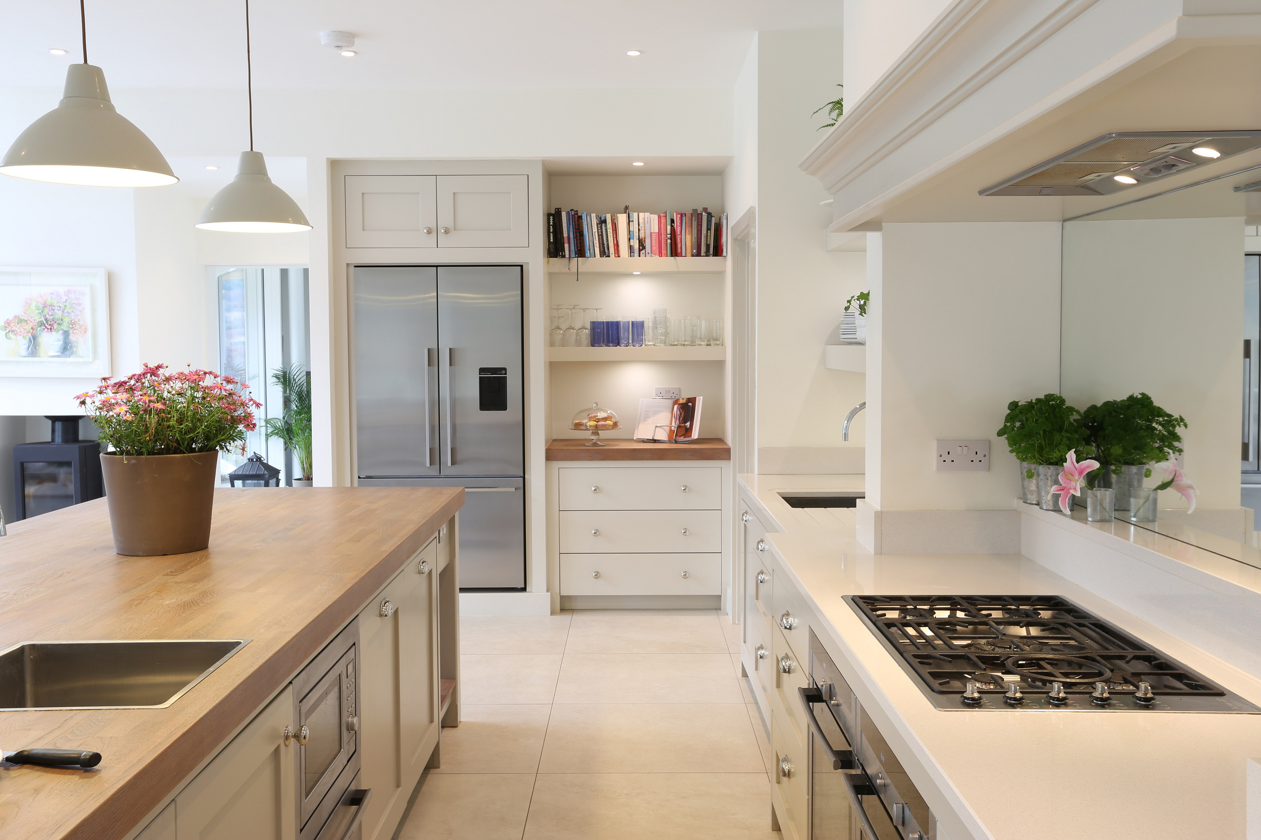 Contemporary Plain English painted kitchen