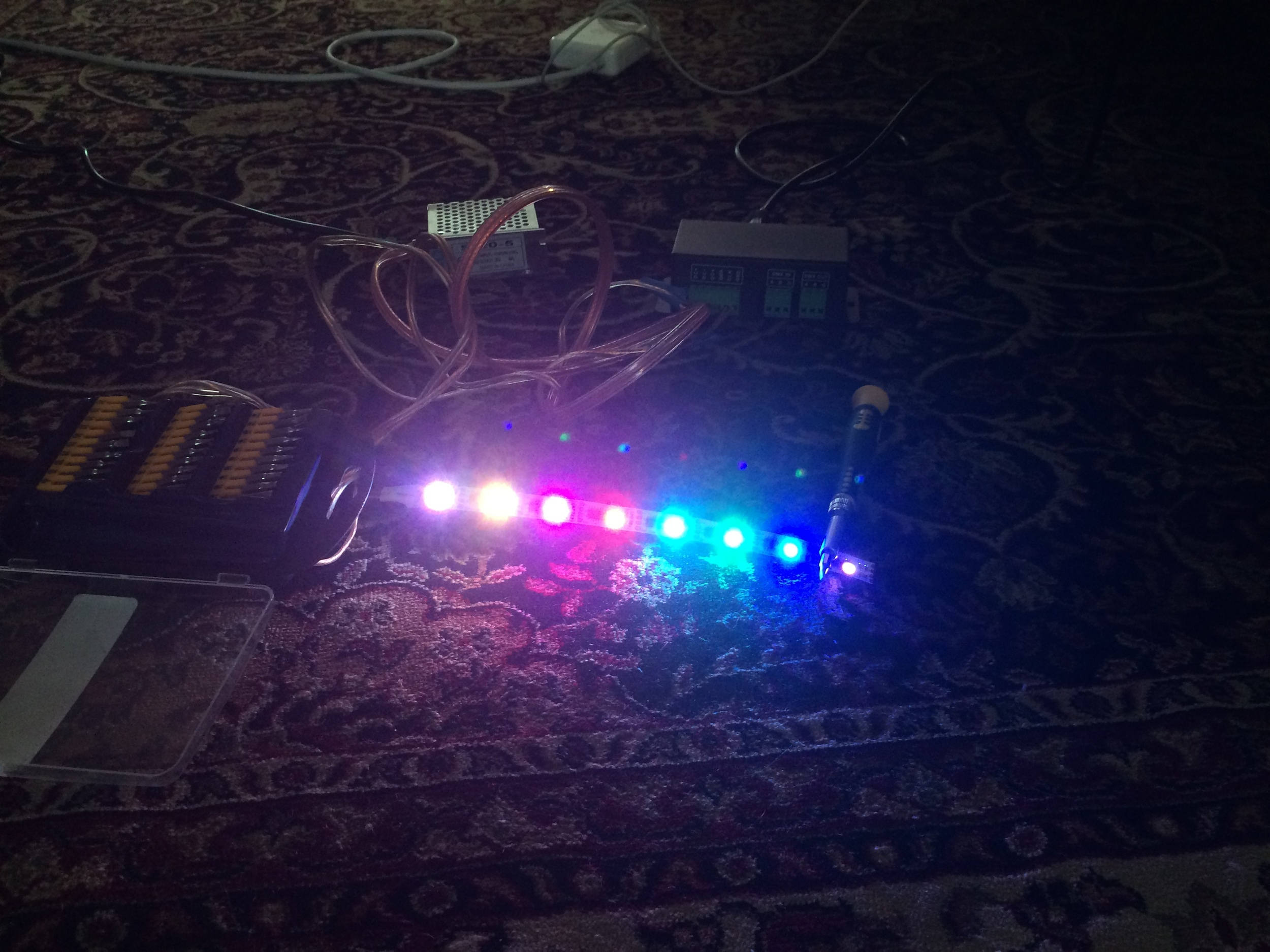 ... you get realtime color control to any RGB DMX light.