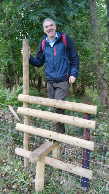 Project Implementer: Chris Uttley,  Stroud rural SuDs project officer on Britain's only Stile that is especially built for touring NFM structures!