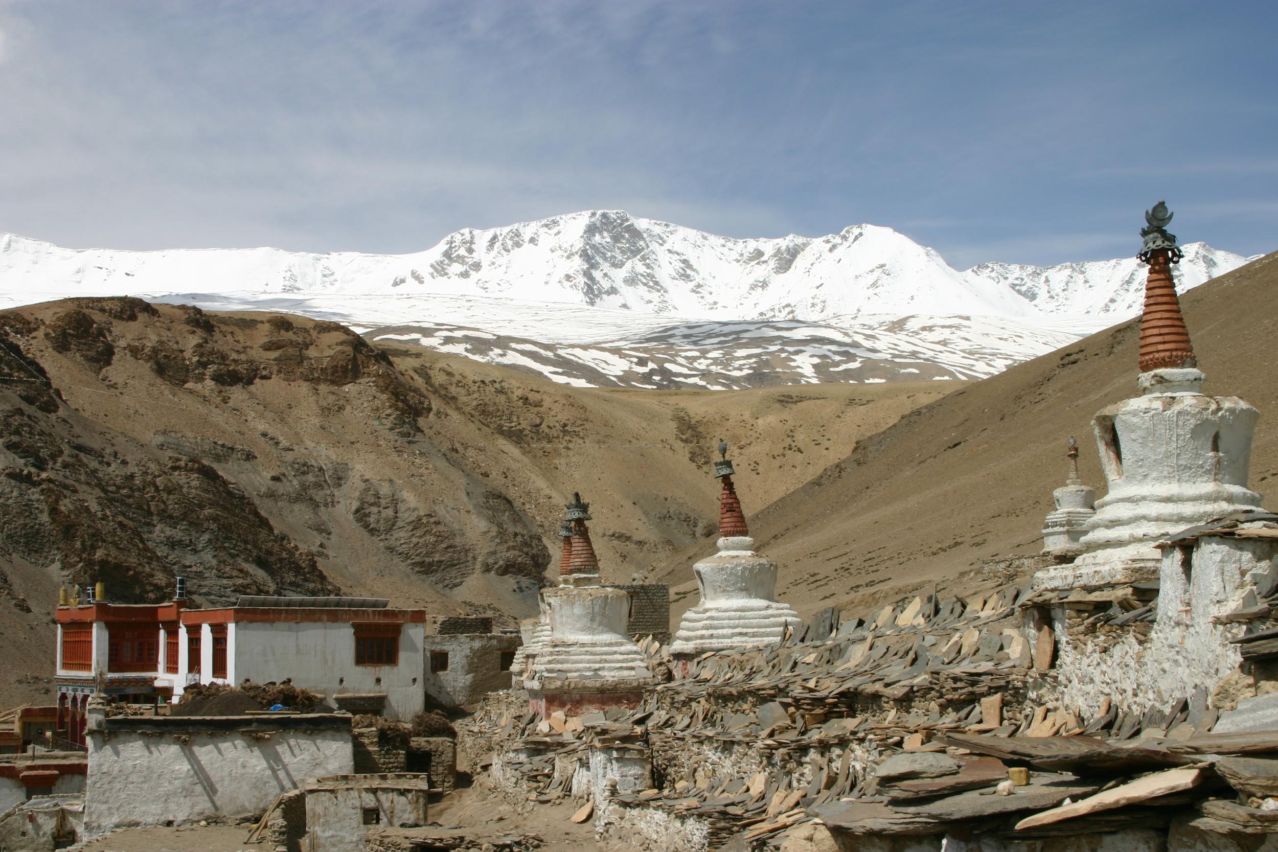 Mountain and Stupa