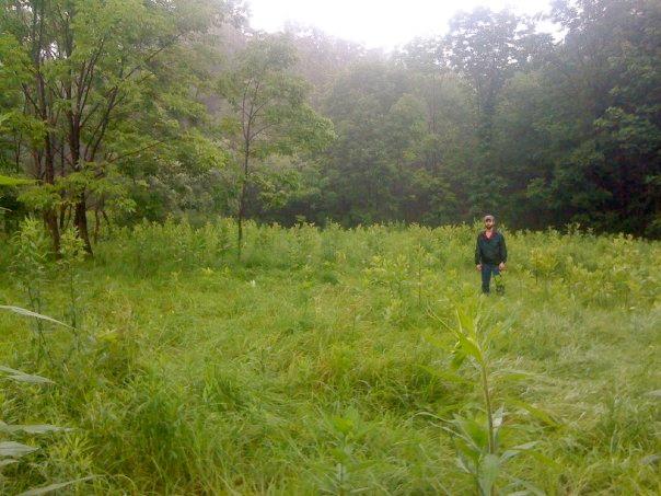 Practitioner David Hurtado exploring the property.