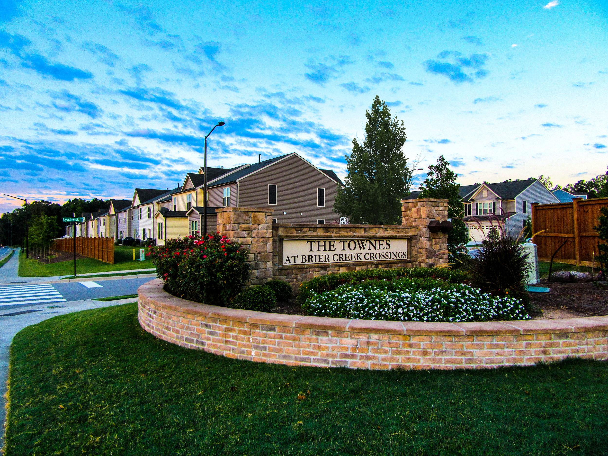 The Townes at Brier Creek Crossings - Landscape Architecture