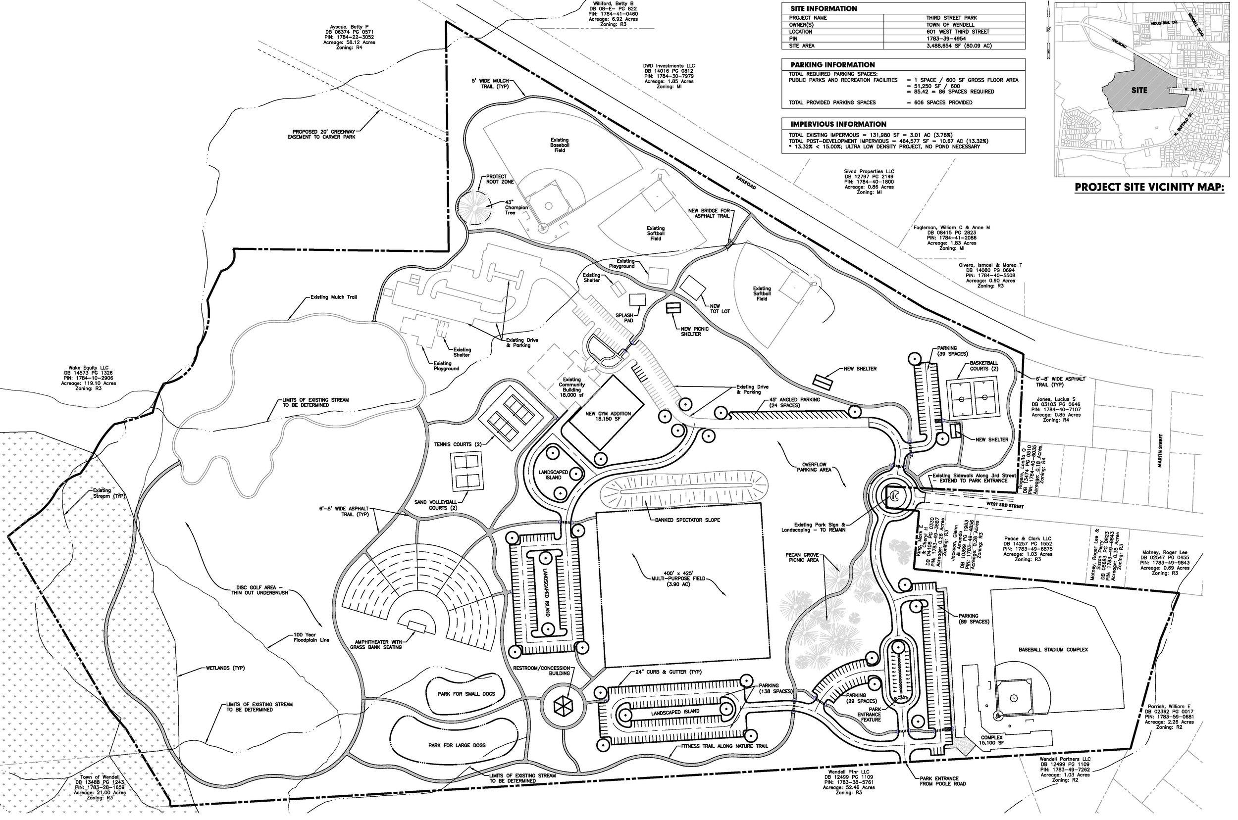 Wendell Third Street Park - Land Planning
