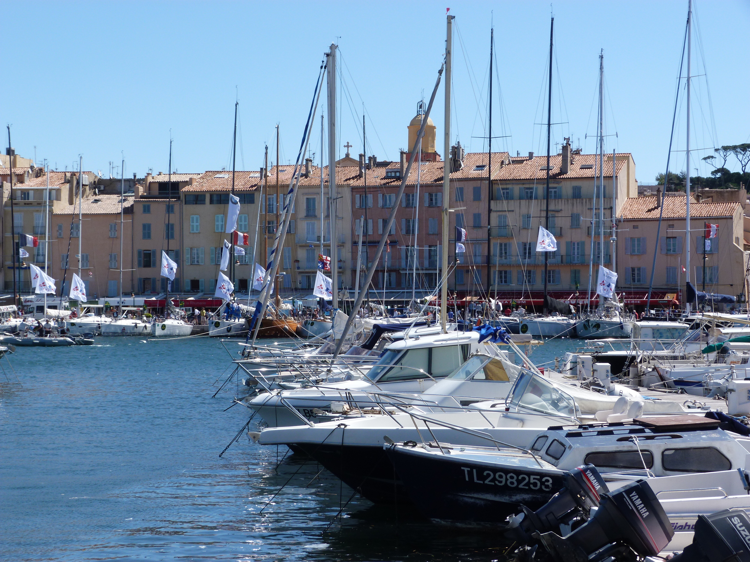 St Tropez (30 - 45 mins away by car and/or regular ferry)