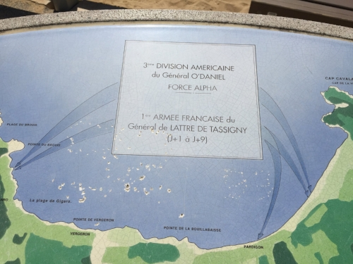 Plaque showing the landings.