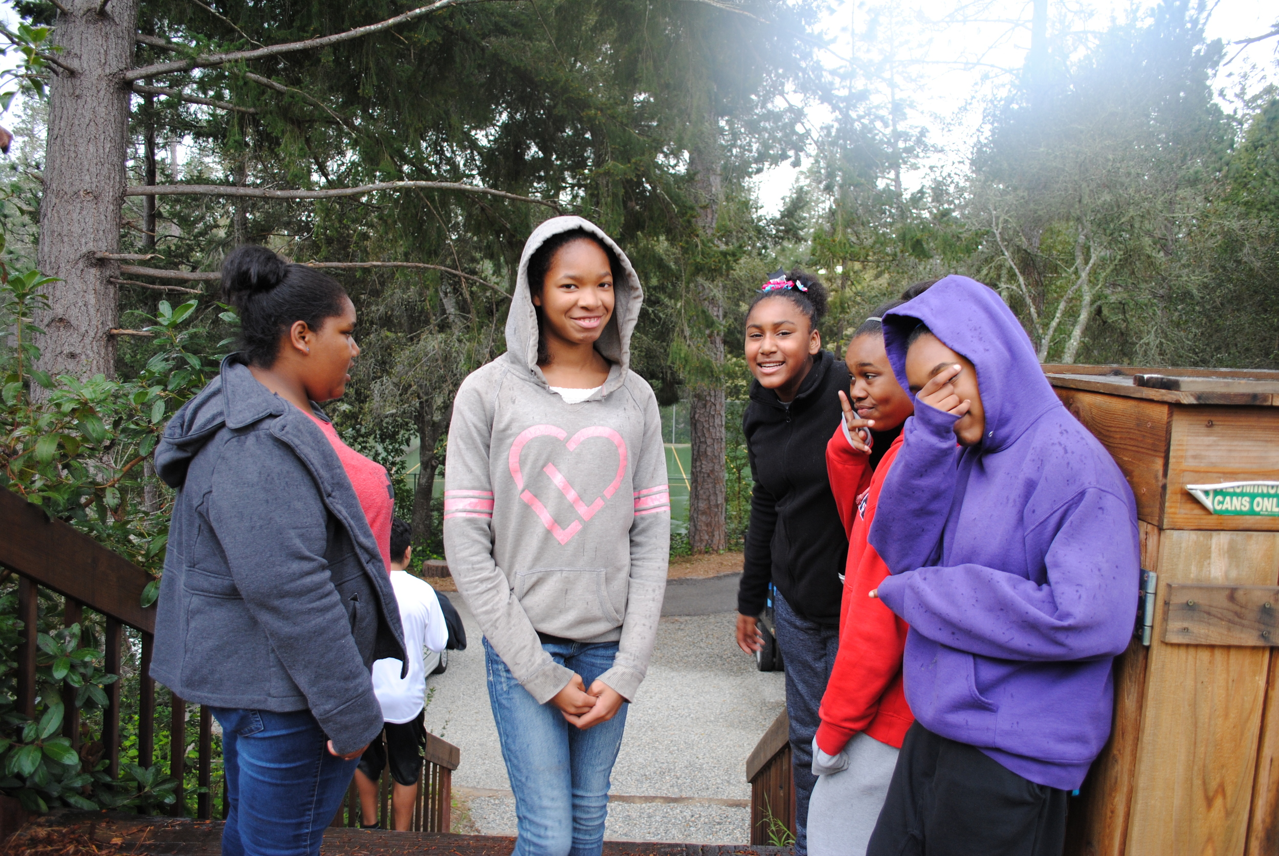 Youth gather while on retreat in the Santa Cruz Mountains.