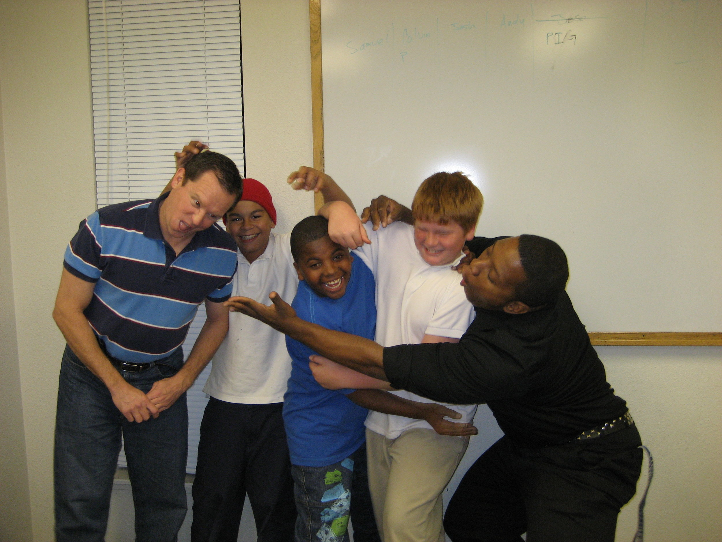 Funny Faces - Here Andrew and some BCM students take a silly photo. (Picture taken in 2006)