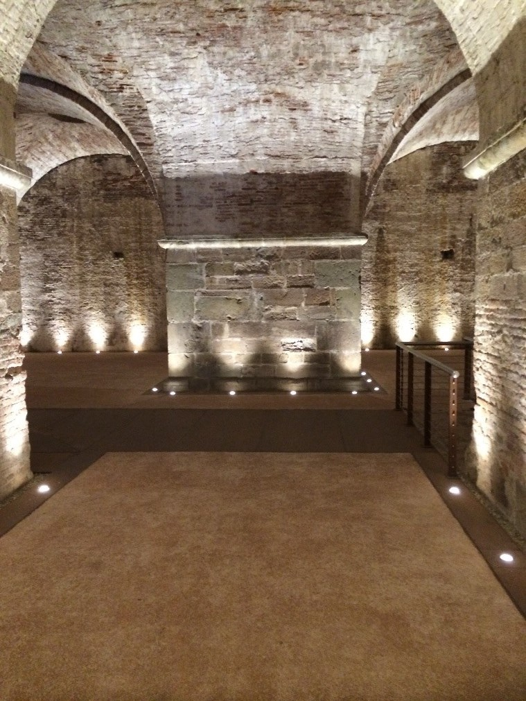 The atmospheric rooms at ground level