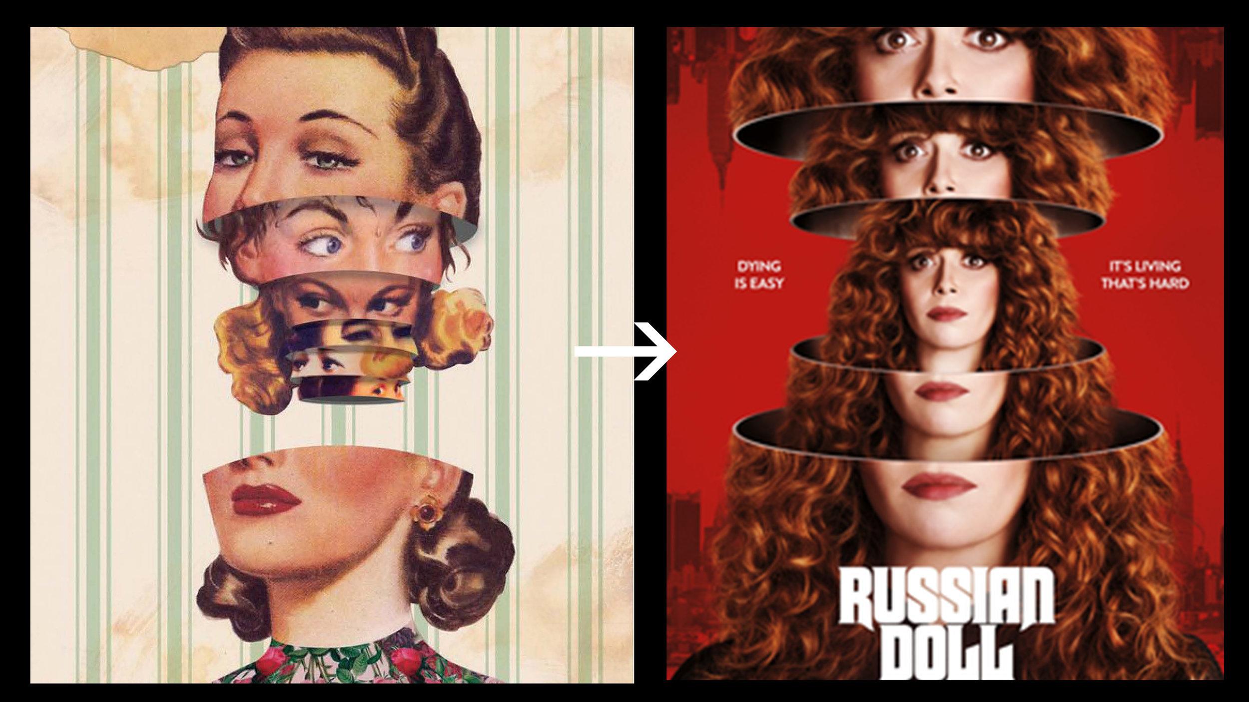 How a lookbook comes to life on screen.  Image credits:    Matt Cunningham    (left);    IMDB    (right).