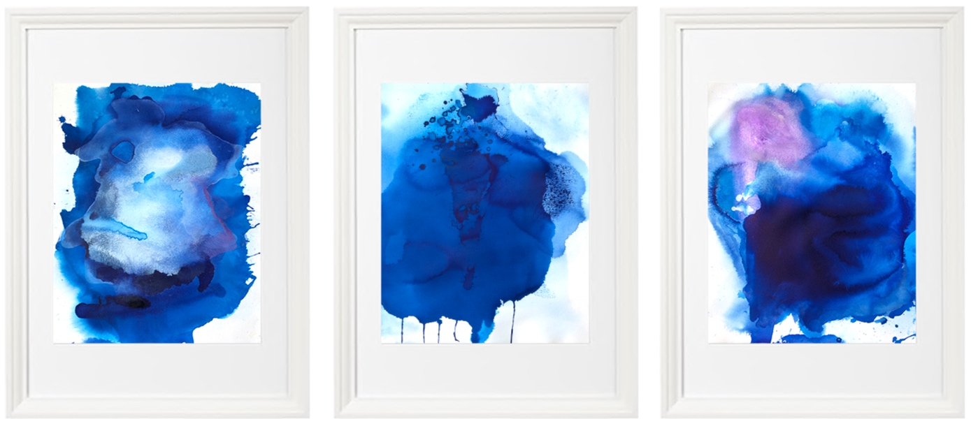"""Study in Blue""  available for purchase through live auction at the 2019 Colorado REACH Conference & Gala."