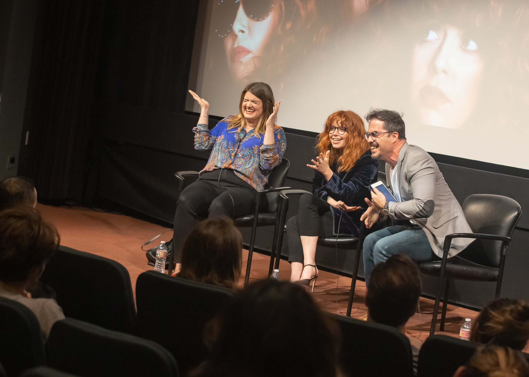 Natasha Lyonne, Leslye Headland, and Chris Schwartz having a blast at AFI. Image provided by  Chris Schwartz .