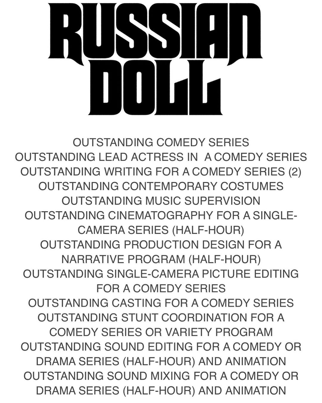 Russian doll Emmy nominations