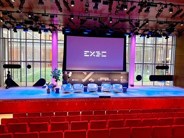 Today, we had the opportunity to transform @thetimescenter in New York into a sleek conference space for the External Data Conference (EXDC) for @thinknum_media and @theumbrellanyc. With the help of our CNC router and UV printer, we were able to display the EXDC logo in the windows, on the columns, and below the main screen of the event space. We also custom built a #thinknum intereactive podium! #thetimescenter #externaldataconference #exdc #thinknum #theumbrellanyc #externaldata
