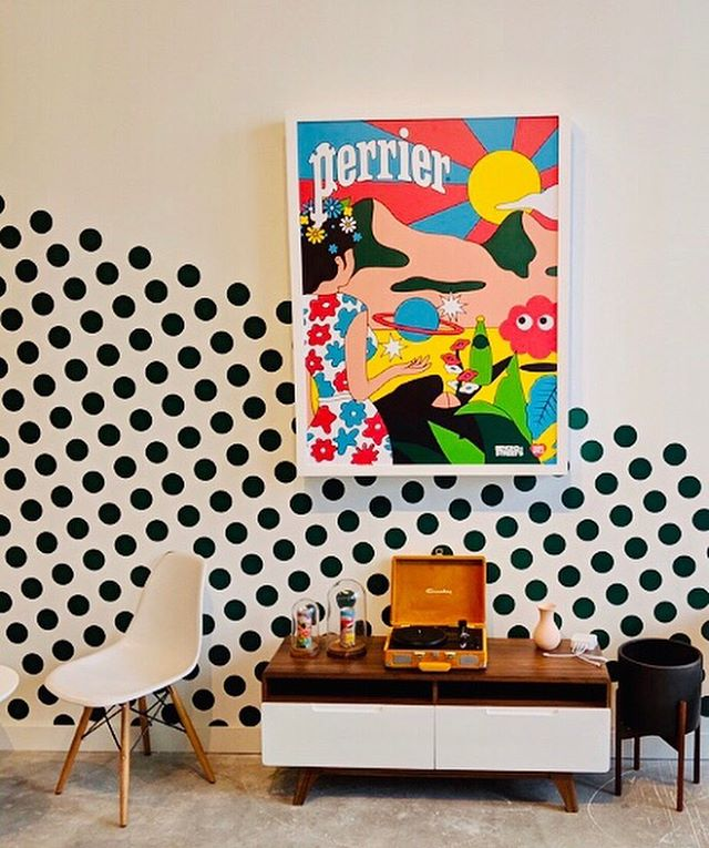 This summer, we had the opportunity to build this colorful @perrier lounge for @mirrorballagency  and designed by @keith_messinger_design 🌈 complete with a UV printed Perrier poster and custom made bar 🛠#perrier #perrierusa #uvprinting #posterdesign #posterart . . . . #setsandeffects #sets #setdesign #setdesigner #setconstruction #designandbuild #setlife #fabrication #setbuilding #artdepartment #artdirection #props #scenicdesign #cncrouter #lasercut #signage #eventdesign #experiential #behindthescenes #brooklyn