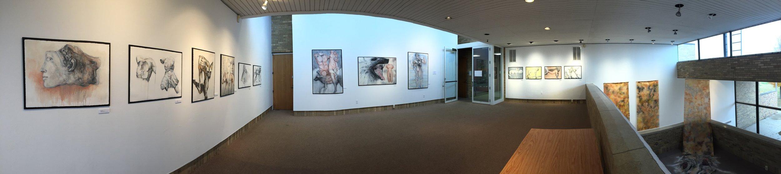 Installation view Schaeffer Gallery Gustavus Adolphus Collebe