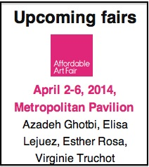 4 artist show at NY's Affordable Art Fair