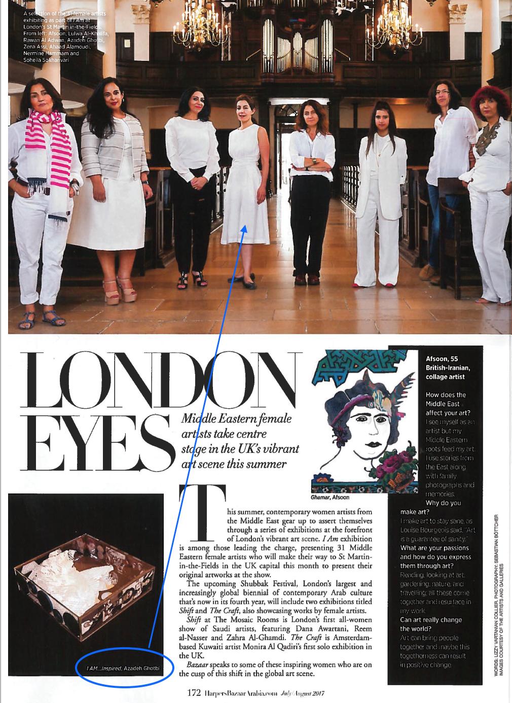 Link to article:  http://www.harpersbazaararabia.com/art/exhibitions/female-artists-showing-in-london