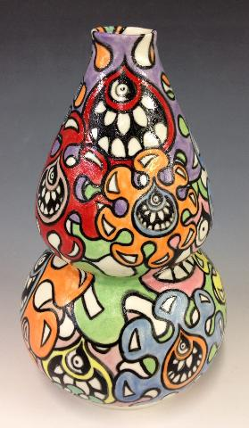 """Hungry Atoms"" 9""x5"" Ceramic $400"