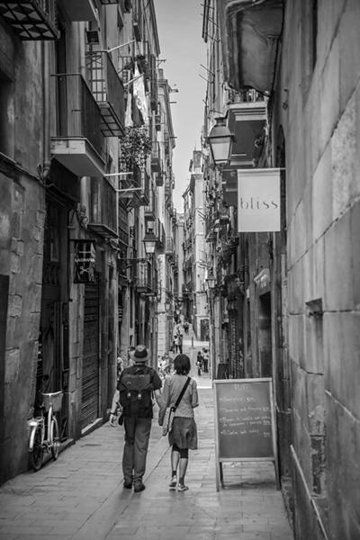 "A Gothic Corner Stroll - Barcelona   Photographic Print   16""x24""  Print $365  22""x30"" Framed $500"