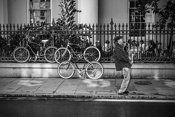 """Bikes and a Sax - New Orleans   Photographic Print   16""""x24""""  Print $365  22""""x30"""" Framed $500"""