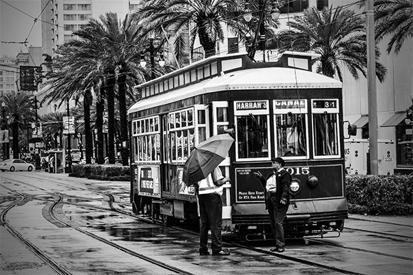 """Canal Street Conversation - New Orleans   Photographic Print   16""""x24""""  Print $365  22""""x30"""" Framed $500"""