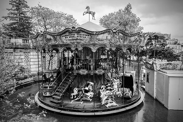 """Carrousel Venitien - Place Saint-Pierre, Paris   Photographic Print   16""""x24""""  Print $365  22""""x30"""" Framed $500"""