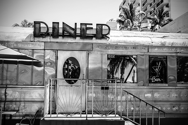 "Diner - South Beach   Photographic Print   16""x24""  Print $365  22""x30"" Framed $500"