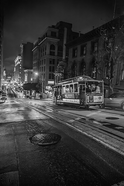 "Night Ride - San Francisco   Photographic Print   16""x24""  Print $365  22""x30"" Framed $500"