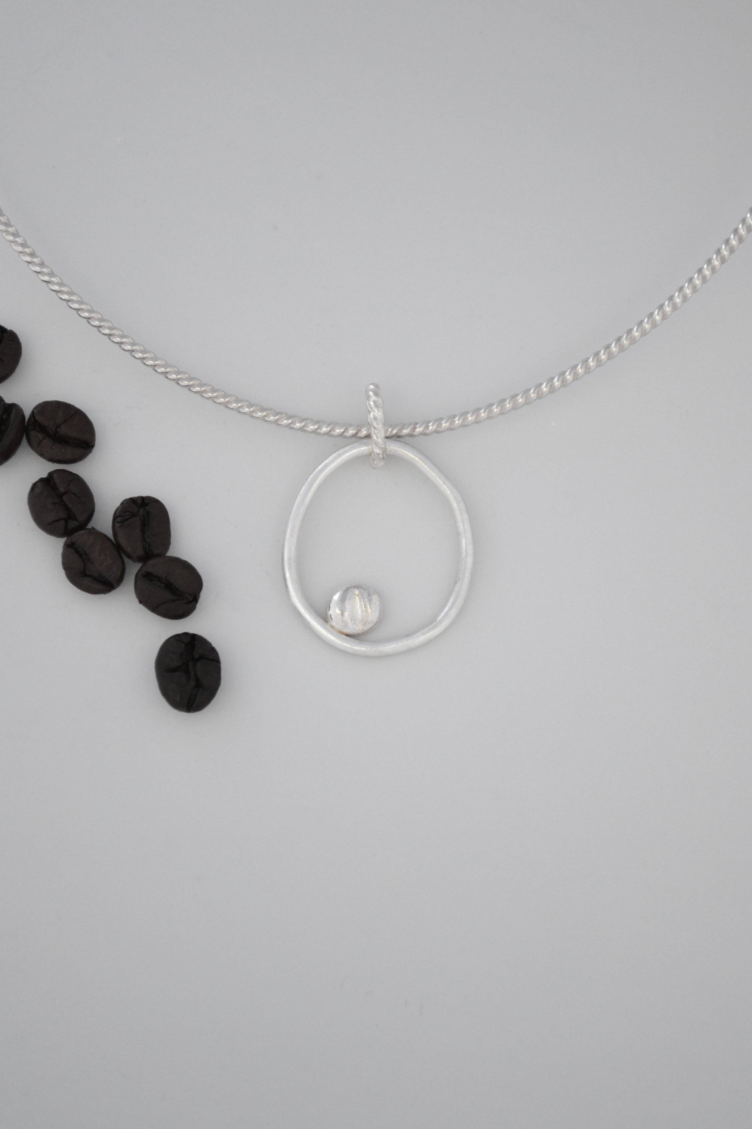 Silver Coffee Bean Pendant - lewdesigns.com.jpg