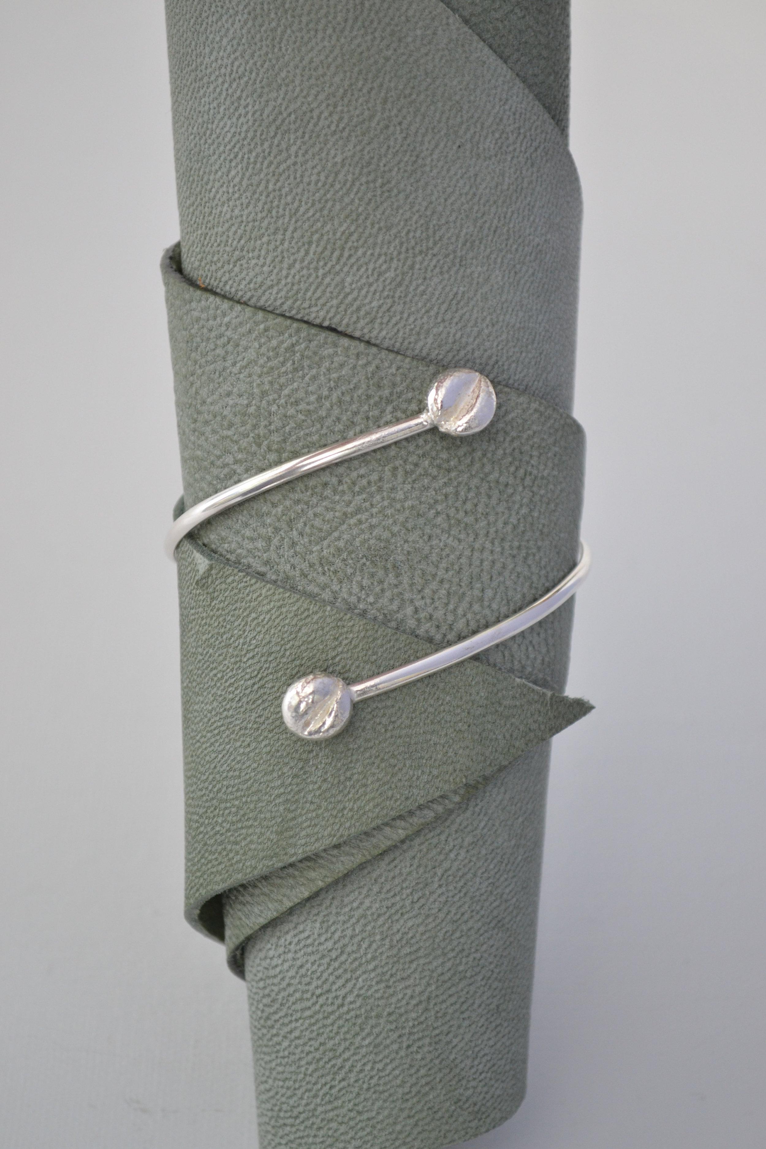 A Coffee Bean Bracelet - Handfabricated lewdesigns.com.JPG