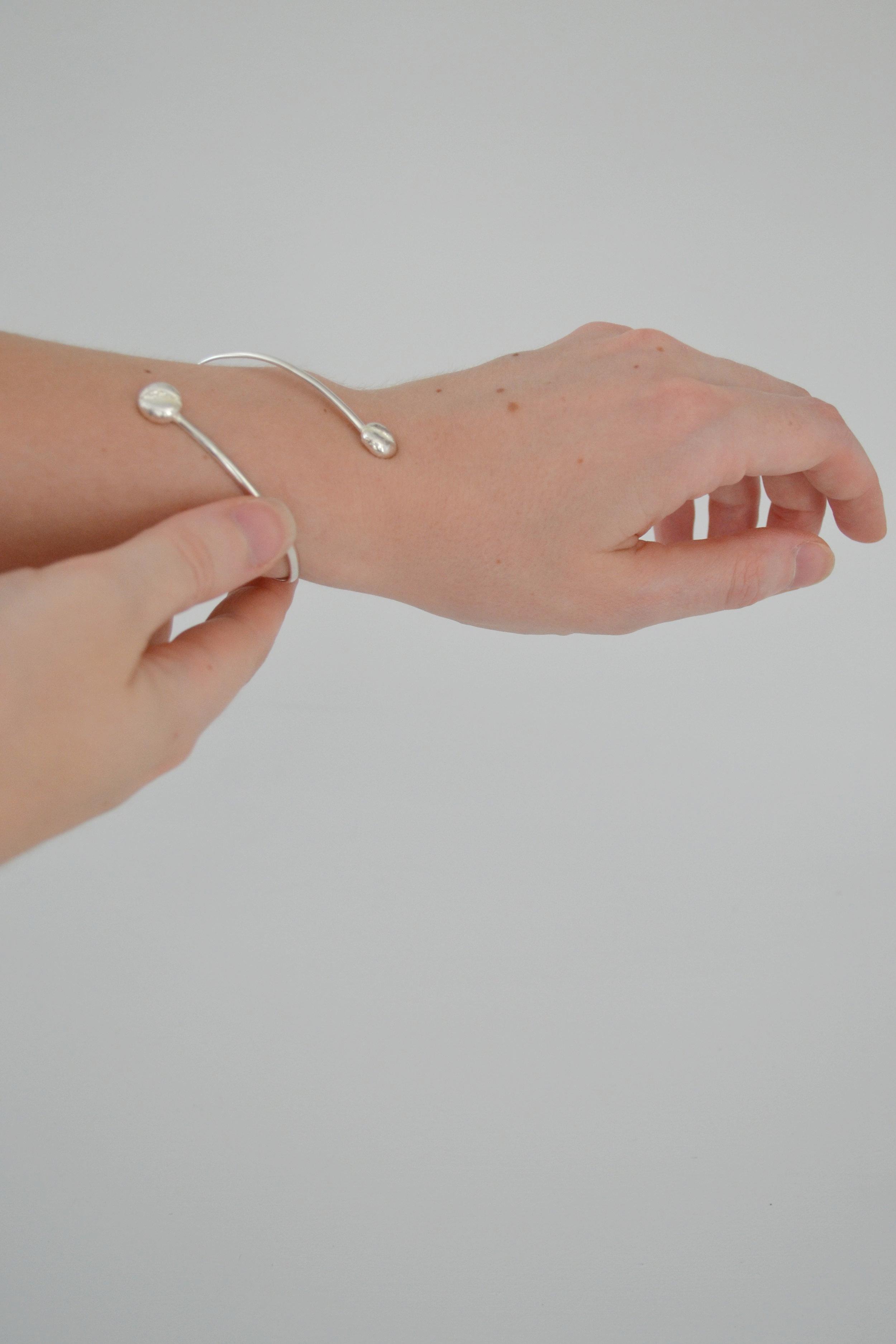 Wearing A Coffee Bean Bracelet - Handfabricated lewdesigns.com.JPG