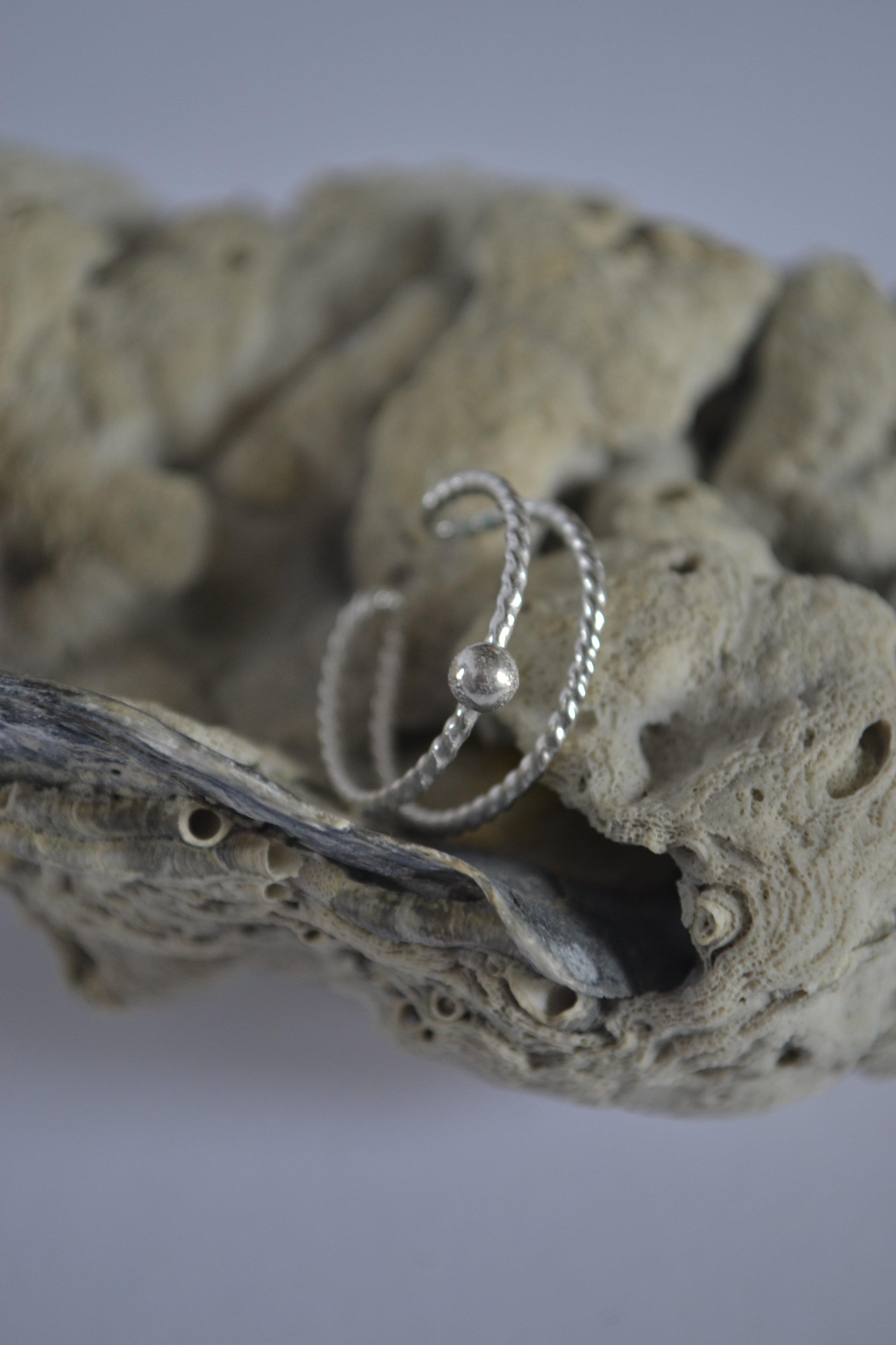 Handcrafted Sterling Silver Adjustable Ring  -  lewdesigns.com.JPG