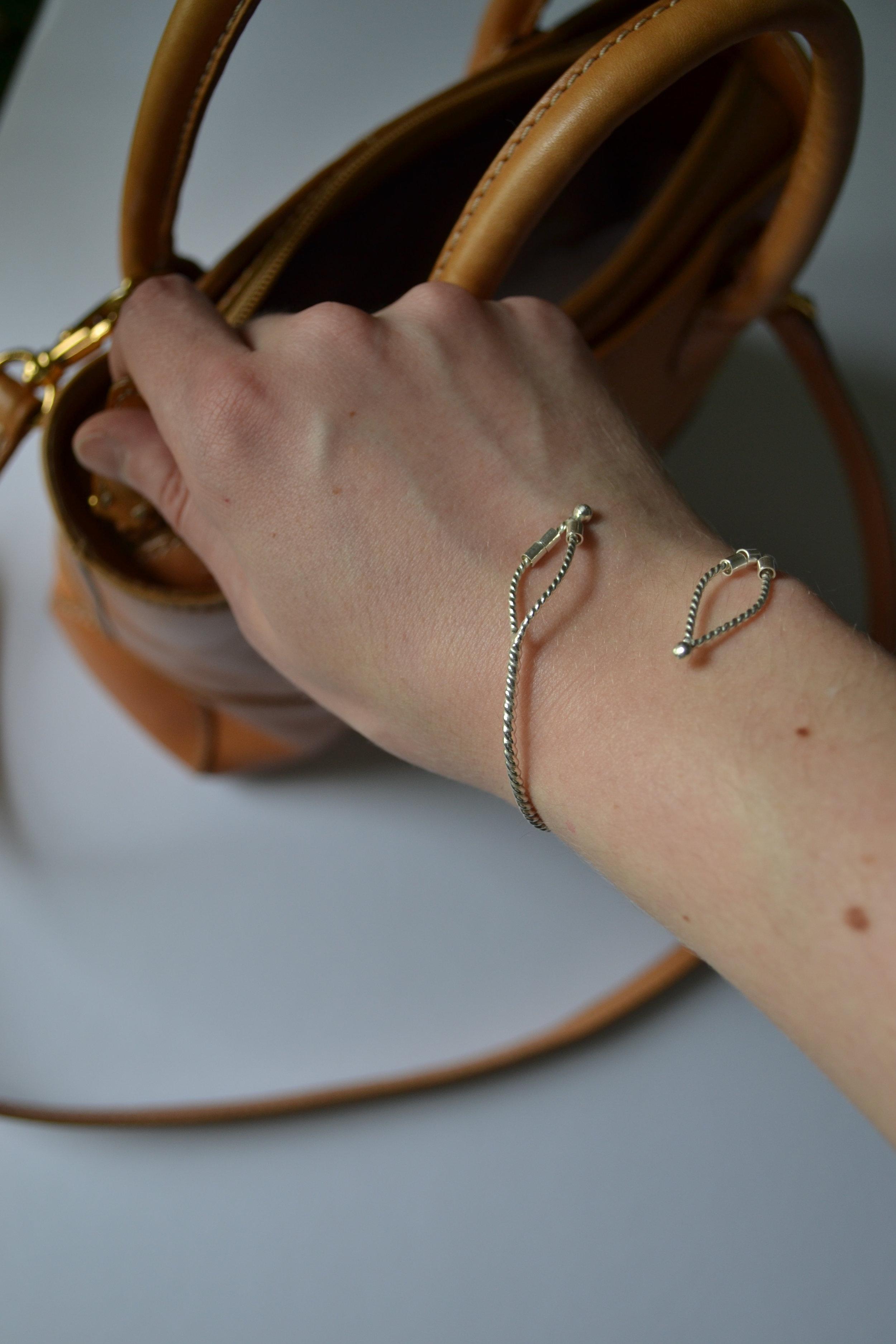 Petal Bracelet - Sterling silver  - Handcrafted - lewdesigns.com.JPG