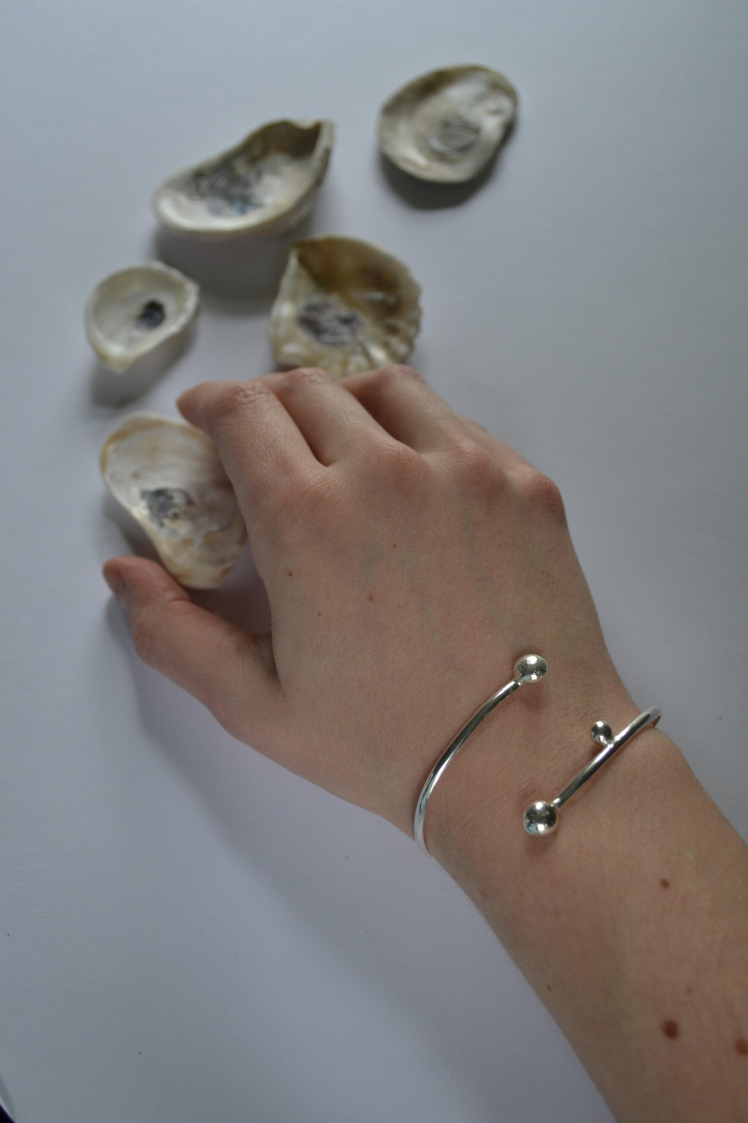 Half Round Bracelet - Solid silver, handcrafted -  lewdesigns.com.JPG