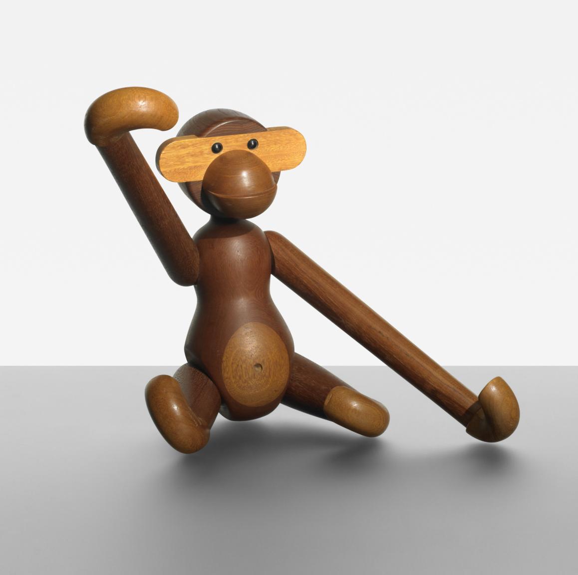 Wooden toy monkey by Kay Bojesen