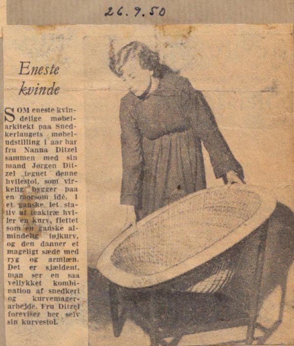 The Basket Chair by Nanna & Jørgen Ditzel designed in 1950