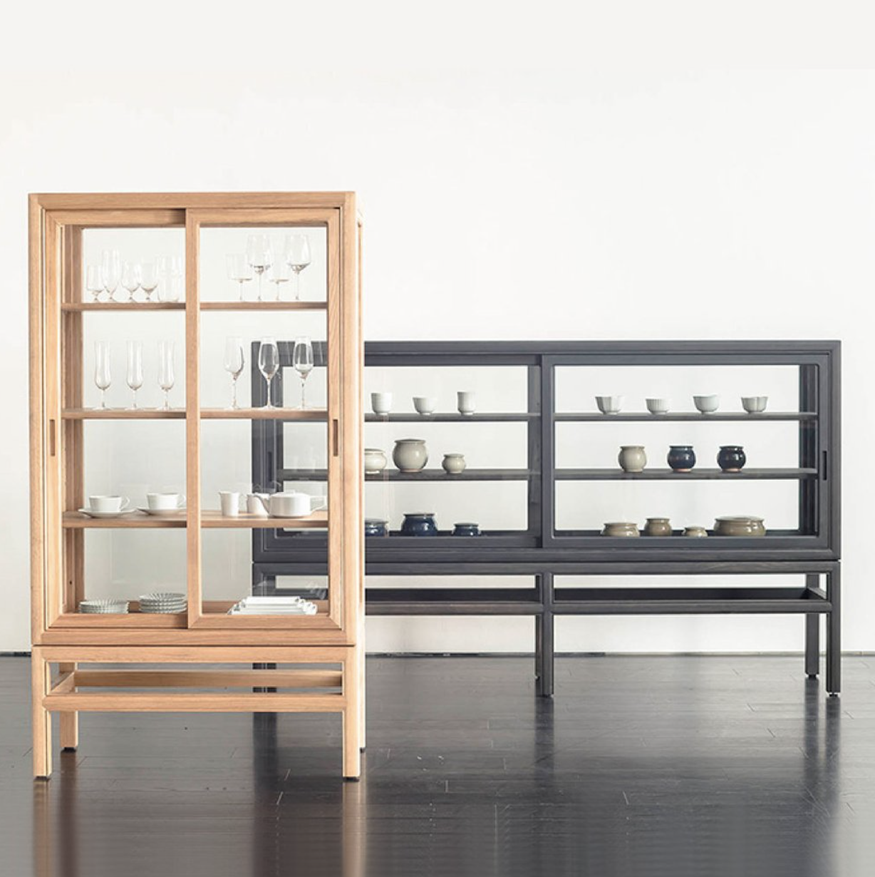 Museum cabinets for private collection available at OOKKUU