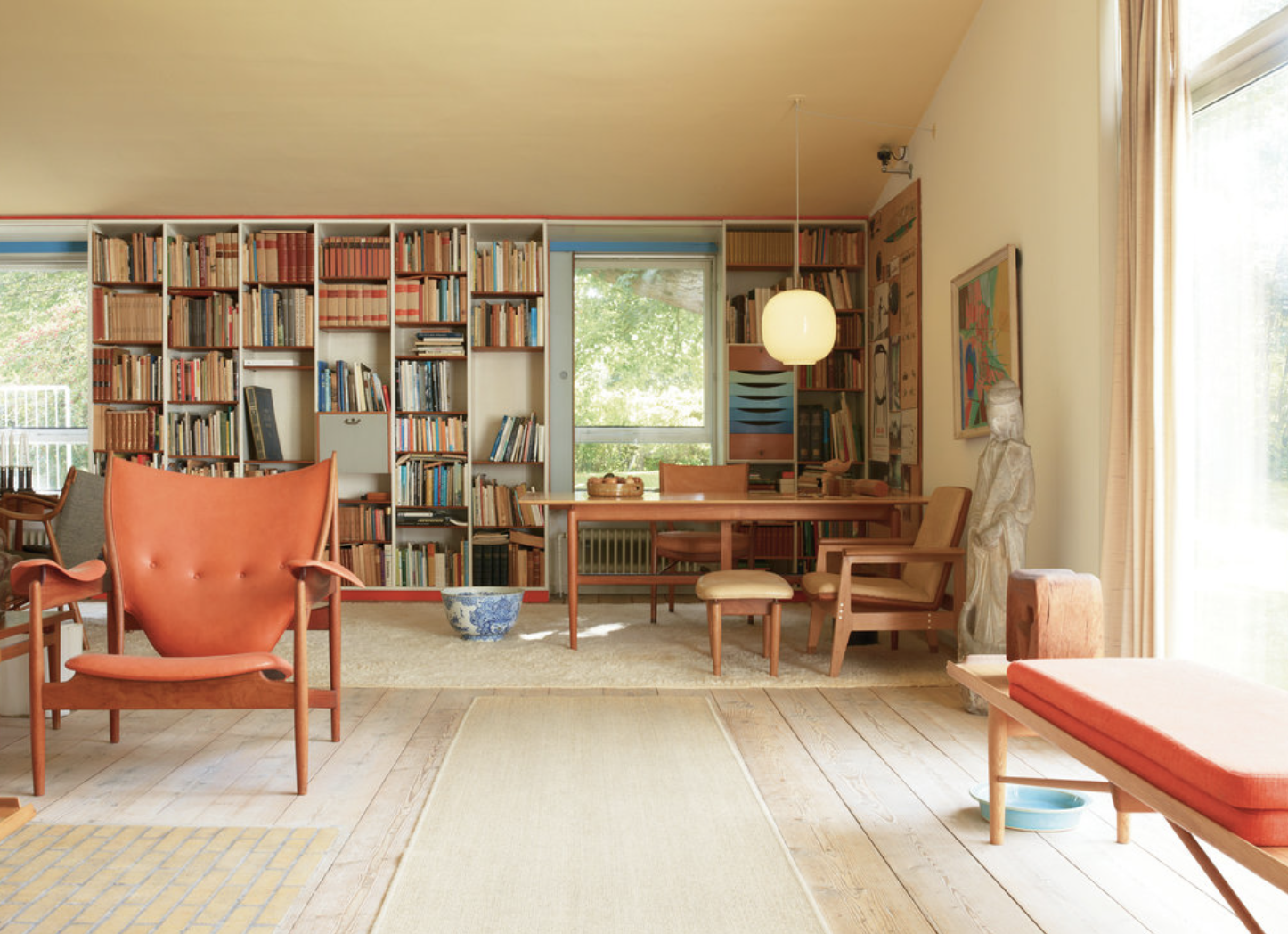 Finn Juhl's home in Copenhagen, photography by Leslie Williamson