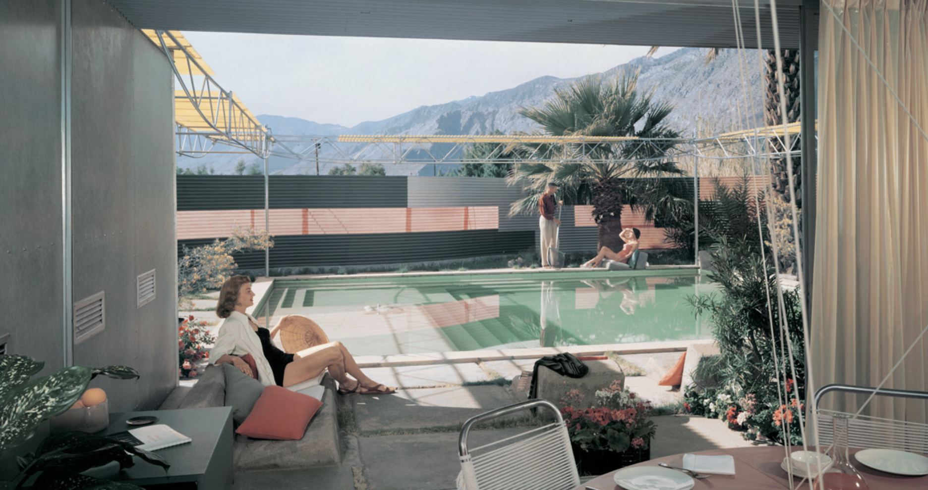 Frey Residence by Albert Frey, Palm Springs, California, photographed in 1956 by Julius Shulman