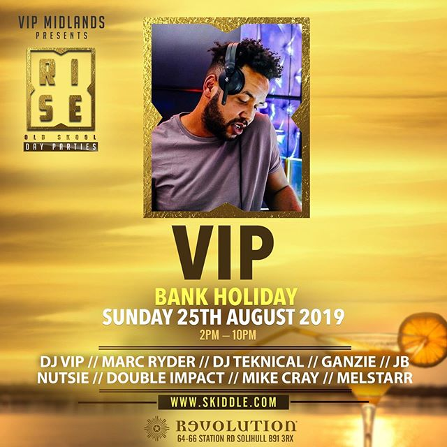 ☀️Suns out as in out out and all these events happening today!  1st stop RISE day party 📍 Revolution, Solihull.  2nd stop Reminiscence 📍Prince Albert, Wolverhampton.  And finally onto 📍Sobar, Birmingham.  DM me for details 📥 Letss gooooo!
