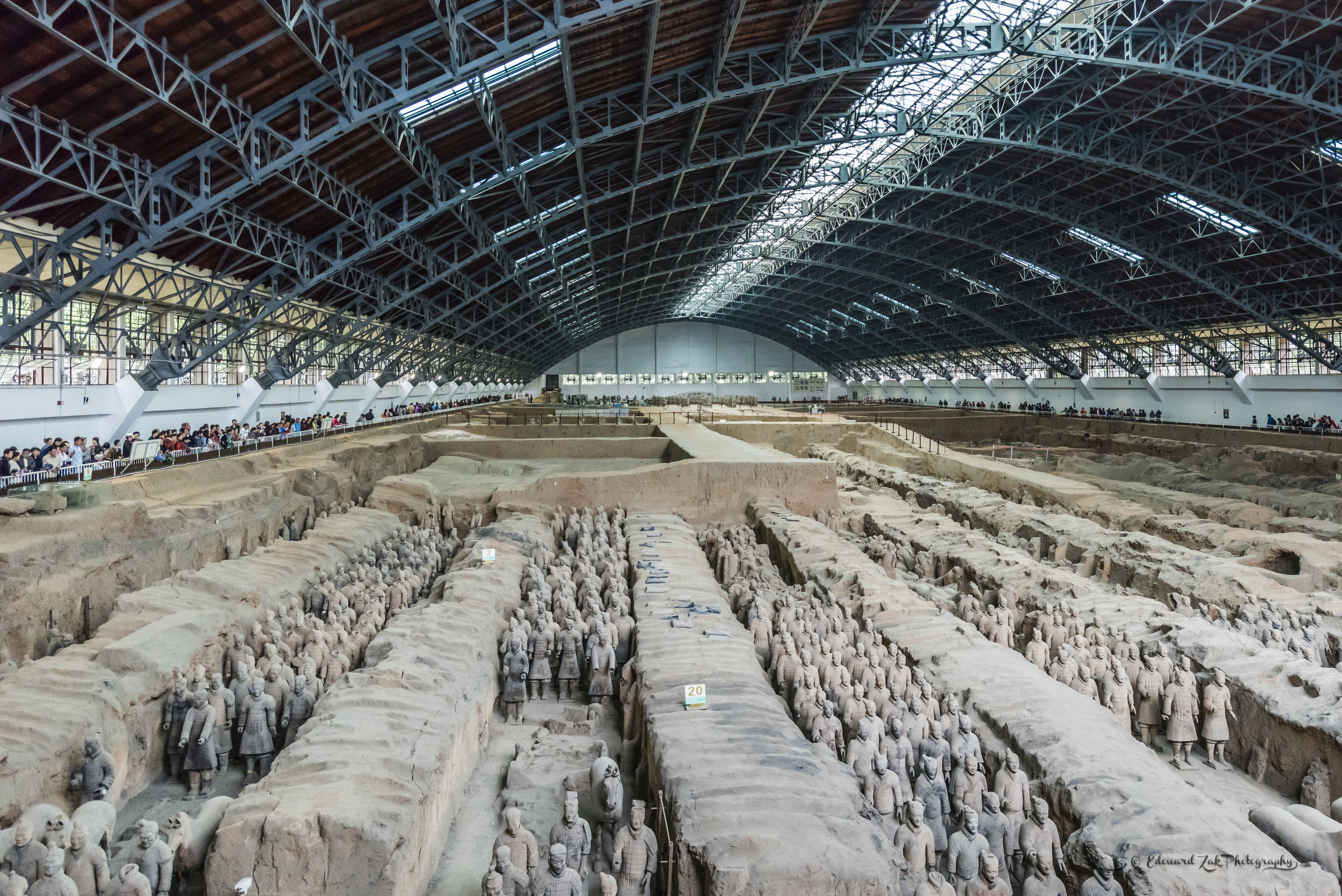 "The Terracotta Army or the ""Terracotta Warriors and Horses"" is a collection of terracotta sculptures depicting the armies of Qin Shi Huang, the first Emperor of China. Wikipedia  Lintong, Xi'an, Shaanxi, China  Province: Shaanxi  Photo take in 2014"