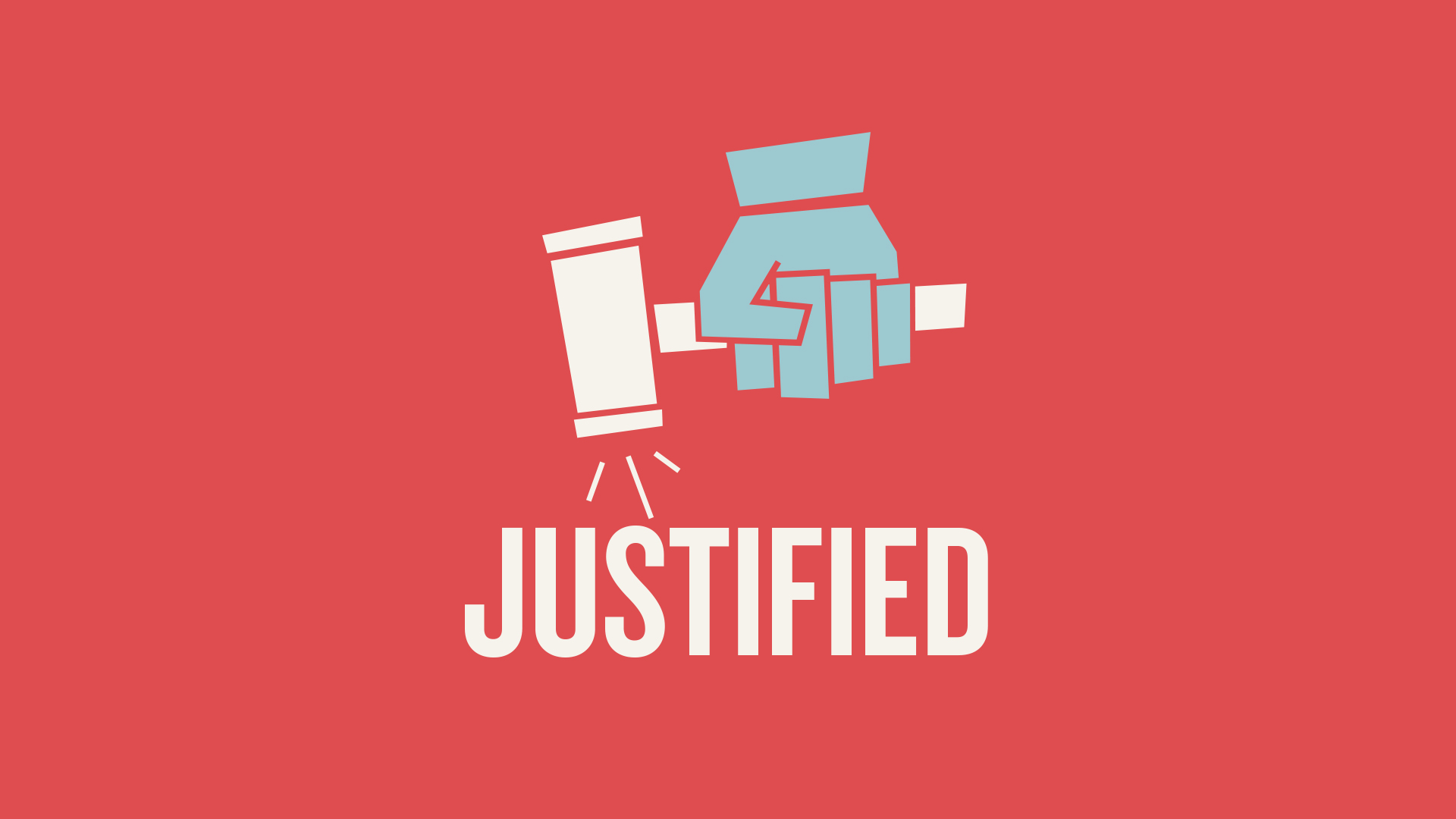 The term itself is legal in nature and thus carries with it the connotation of a sentence being rendered. In the case of the believer, God the Father renders us justified due to Christ's atoning work on the cross. A hand rapping a gavel was utilized to illustrate the act of justification.