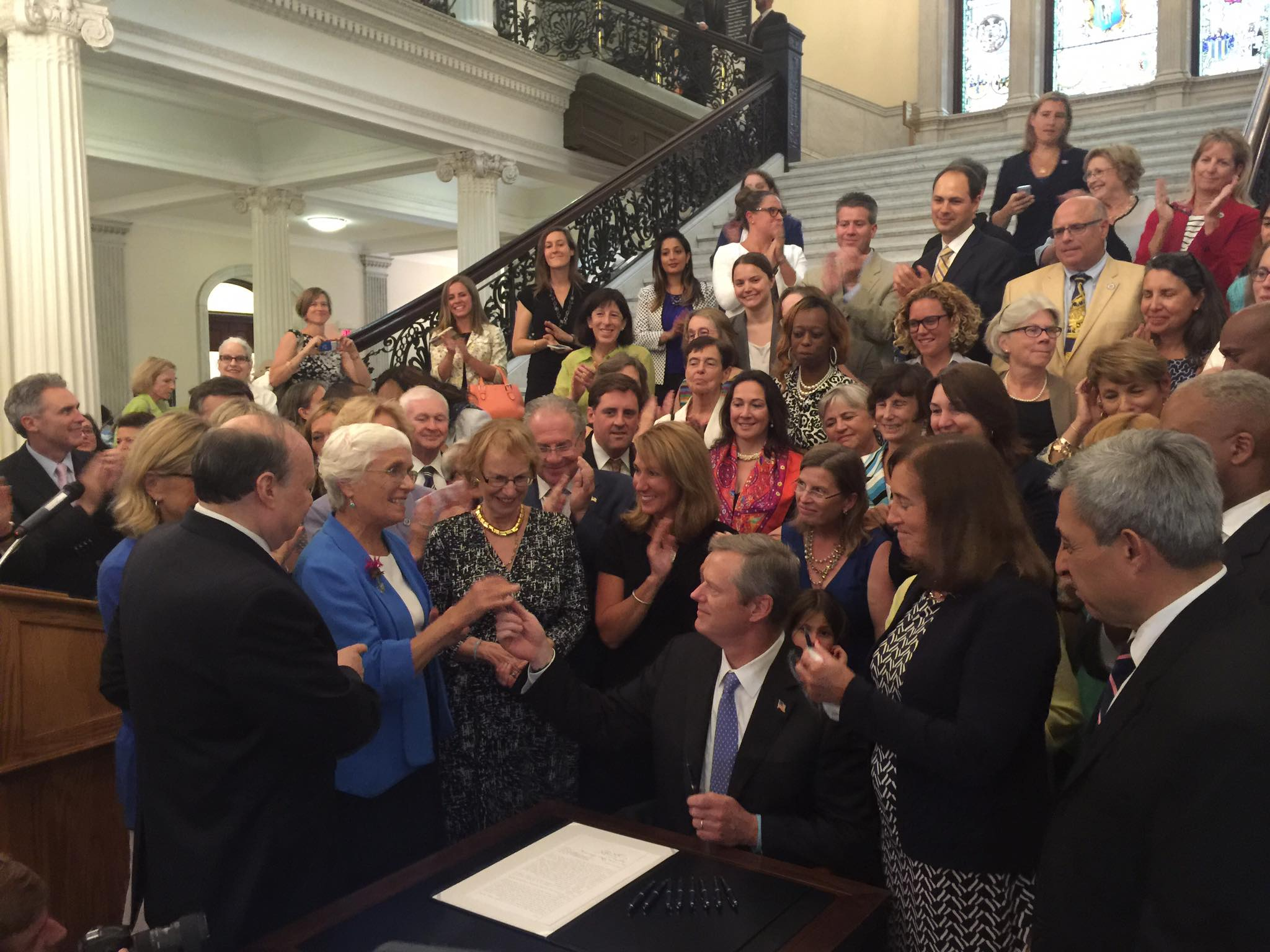 governor charlie baker signs an act to establish pay equity into law on monday, august 1, 2016! Watch the video  here.